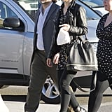Rachel McAdams and Michael Sheen stepped out to grab a bite to eat.
