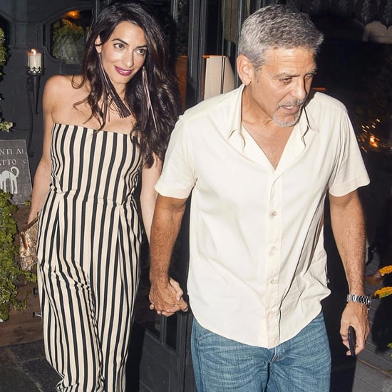 Amal Clooney's Striped Jumpsuit in Italy
