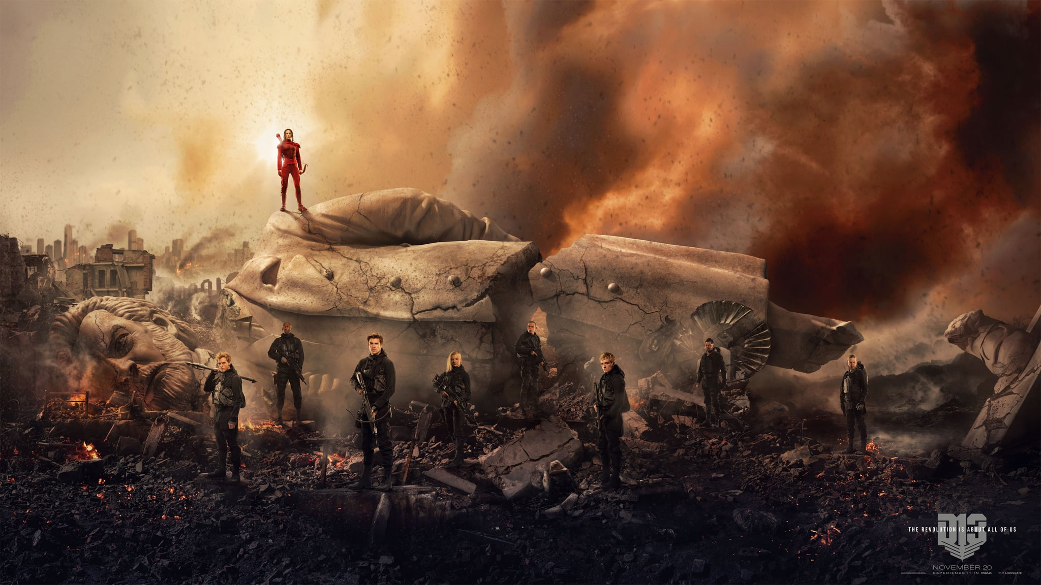Mockingjay Part 2 Poster With President Snow Statue Popsugar