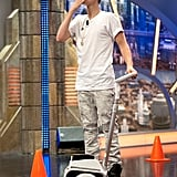 Justin Bieber blew a kiss to the audience on El Hormiguero.