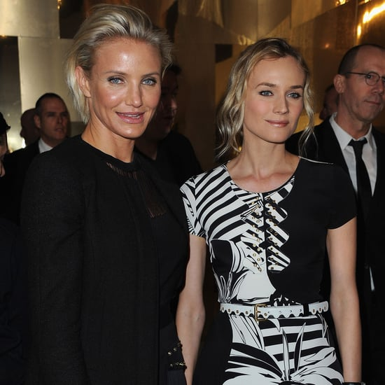 Cameron Diaz and Diane Kruger Pictures at Versace Show