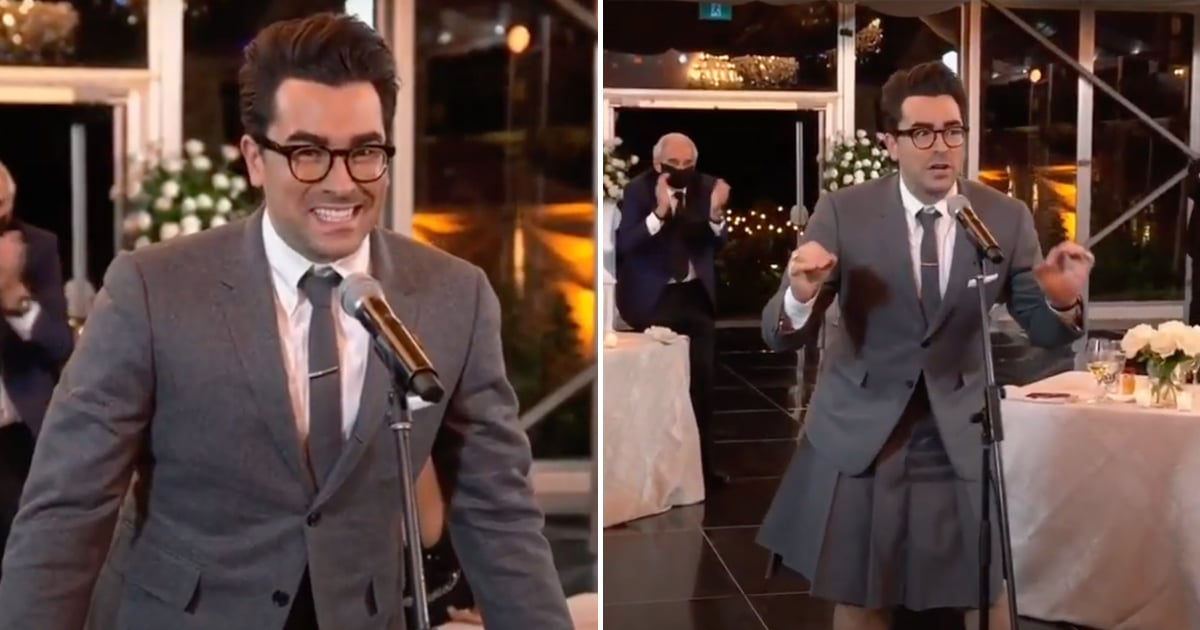 Dan Levy Gave a Nod to David Rose's Wedding Look For the Emmys, and I'm Obsessed With This