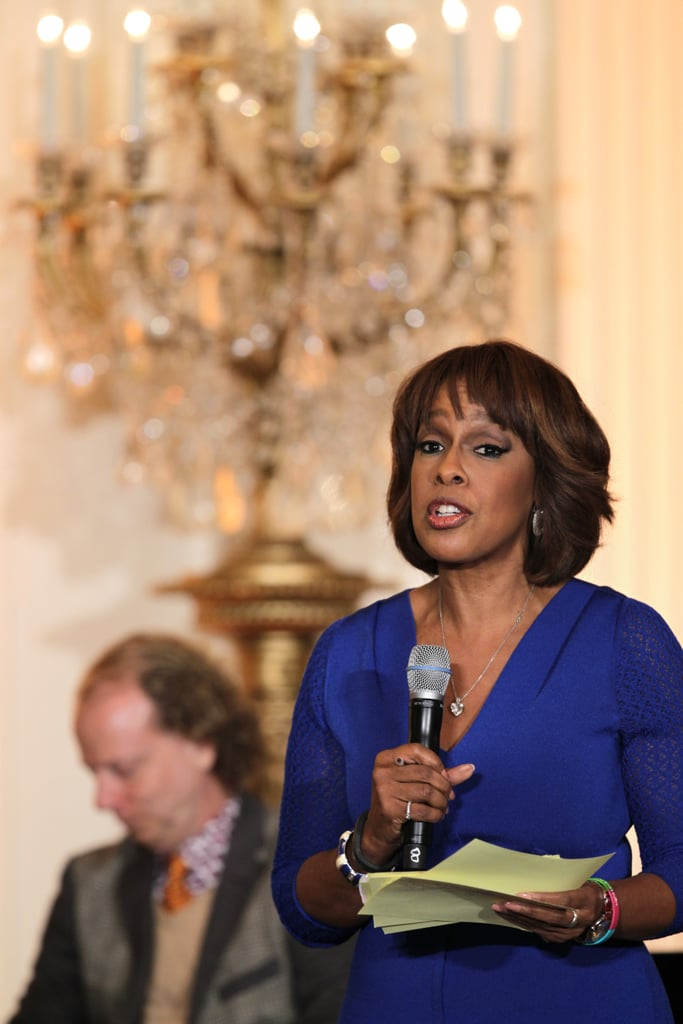 Gayle King took the mic to talk to students about the film industry.