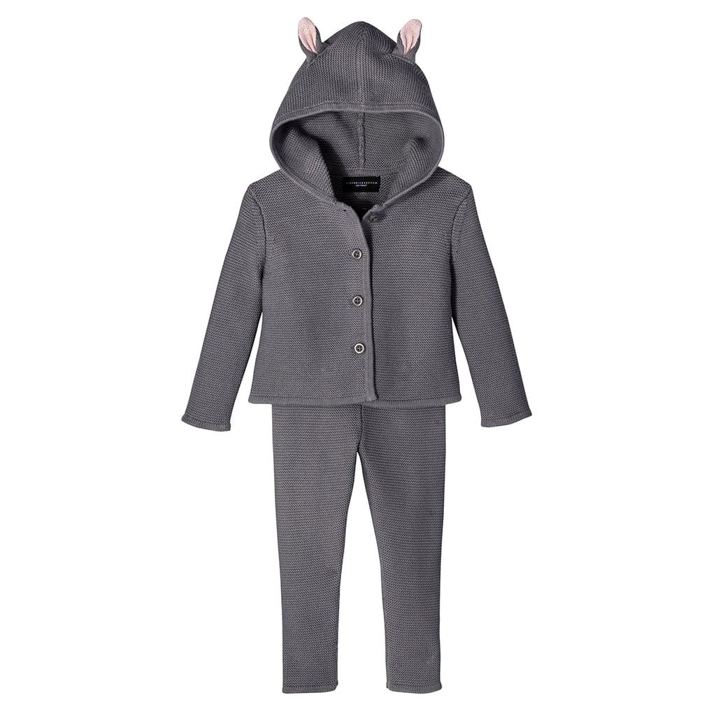 Toddler Girls' Dark Grey Bunny Jacket and Pant Sweater Set ($38)