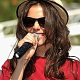 Katie Holmes on National Dance Day.