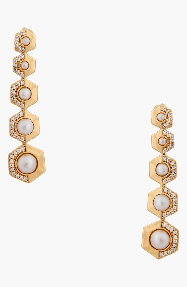 Rachel Zoe Sophia Pearl Drop Earrings ($75)