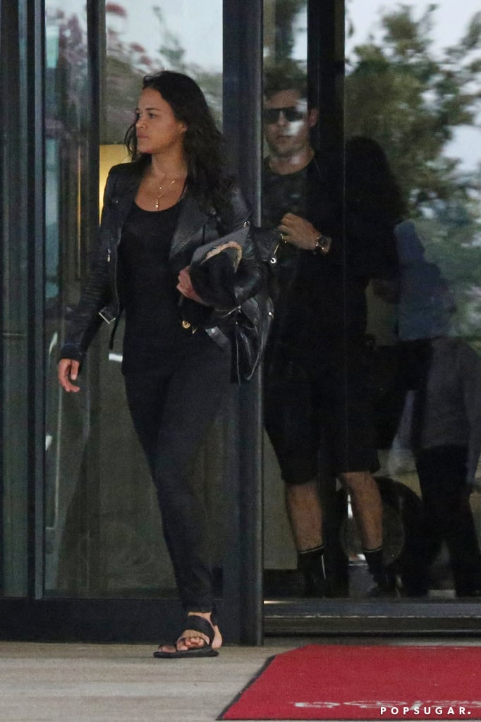 Michelle and Zac both wore black.