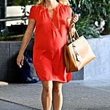 Reese Witherspoon had a pregnant glow while food shopping in LA.