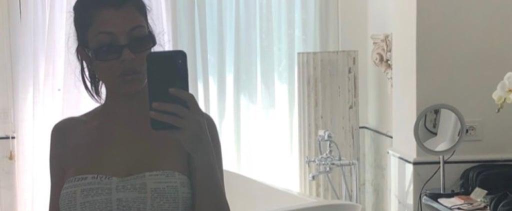 Kourtney Kardashian Newspaper Bikini June 2018