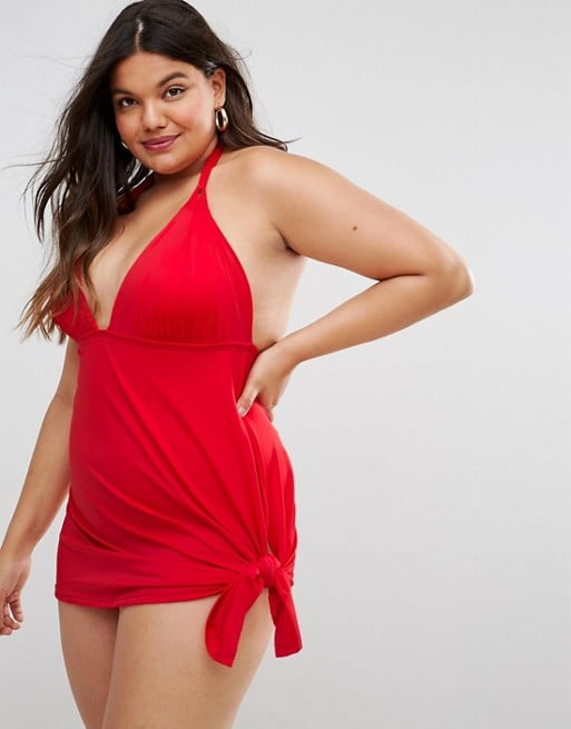 f41d4619dd153 Asos Curve Tie Side Swim Dress | Priyanka Chopra Red Swimsuit ...
