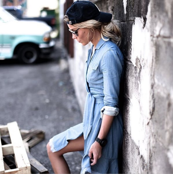 The Denim Tie-Front Dress