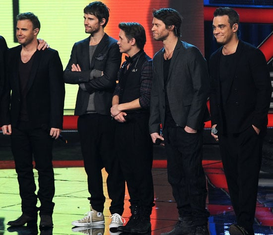 Pictures of Take That on The X Factor Italy
