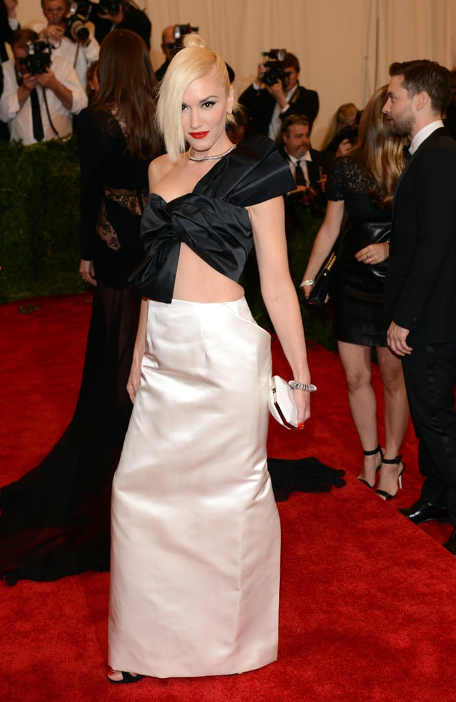 """All hail the punk princess. Gwen nailed the """"Punk: Chaos to Couture"""" theme in a structured Maison Martin Margiela creation at the 2013 Met Gala."""