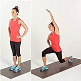 Circuit 1, Move 1: Reverse Lunge With Side Stretch