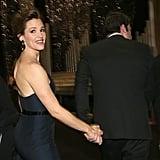 Jennifer Garner held onto Ben Affleck's hand inside the auditorium during the SAG Awards.