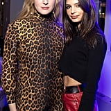 Emily Ratajkowski's Red Leather Pants