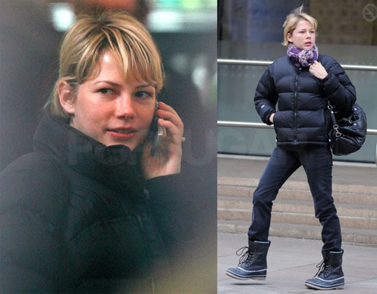 Michelle Williams on Set for Mammoth