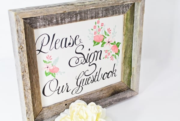 photo relating to Please Sign Our Guestbook Free Printable titled No cost Printable Wedding ceremony Signs or symptoms POPSUGAR Good Dwelling