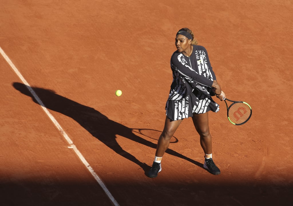 Serena Williams Donned a Black-and-White Layered Look at the 2019 French Open