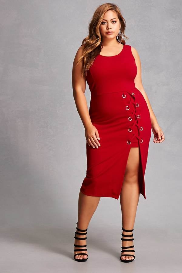 Forever 21 FOREVER 21+ Plus Size Lace-Up Dress | We ...