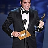 Jean Dujardin made a funny acceptance speech during the 2012 Oscars.