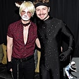 Chris Colfer and Will Sherrod as Grumpy Cat and a Happy Ninja