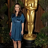"""Natalie Portman Talks Dressing Her Baby Bump and Being """"Drawn to the World of Dance"""" at the Oscars Nominee Luncheon"""