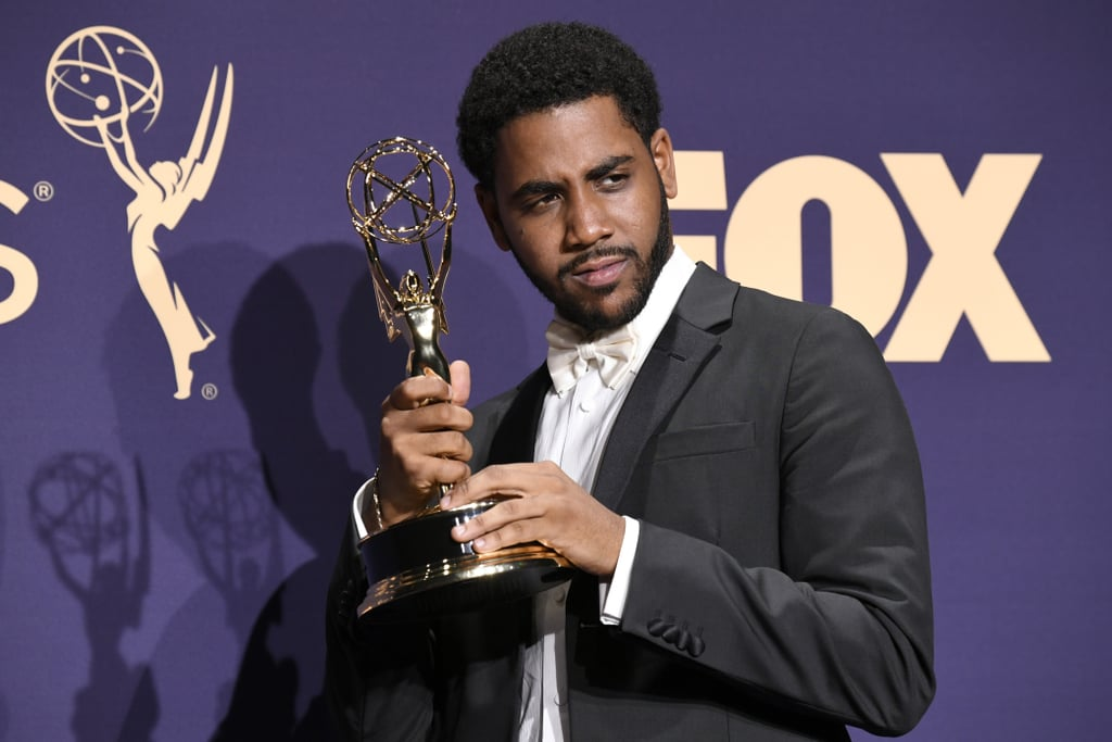 "Jharrel Jerome got his moment in the Emmys spotlight on Sunday, and we loved to see it. Looking debonair in a black and white suit, the 21-year-old actor hit up the LA event, representing for the cast of Ava DuVernay's When They See Us. The highlight of Jharrel's night came when he won his first-ever Emmy, snagging the honor for lead actor in a limited series. He dedicated the award to the Exonerated Five — the real-life inspirations behind the Netflix series — and expressed his gratitude for the recognition. ""I'm here in front of the people I'm so motivated by, and the reason I'm here is because of actors like the ones I was in the category with,"" he said. He even received a standing ovation following his heartwarming speech. Honestly, we're still applauding. Look ahead to see more photos from Jharrel's outstanding night!      Related:                                                                                                           The Real-Life Exonerated Five Make a Powerful Appearance at the Emmys With Ava DuVernay"