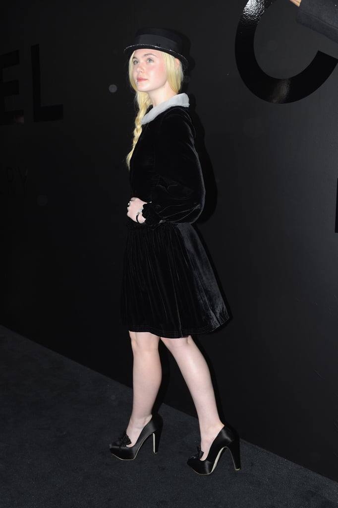 Elle Fanning wore Chanel couture out in NYC.