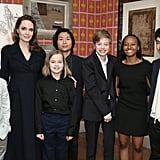 Angelina Jolie and Her Kids at a Screening in NYC Feb. 2019