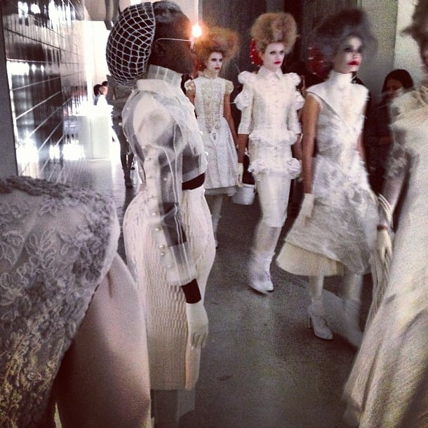 Thom Browne brought the drama to the runway. Source: Instagram user thombrowneny