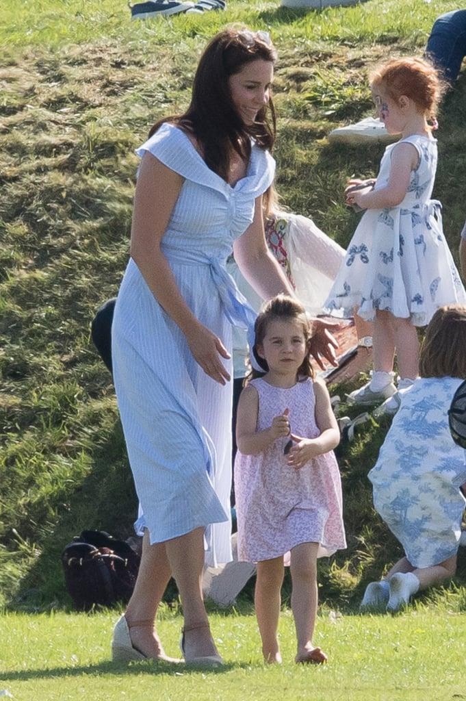 29cd90c0ed9 Kate Middleton Blue Dress at Polo Match 2018