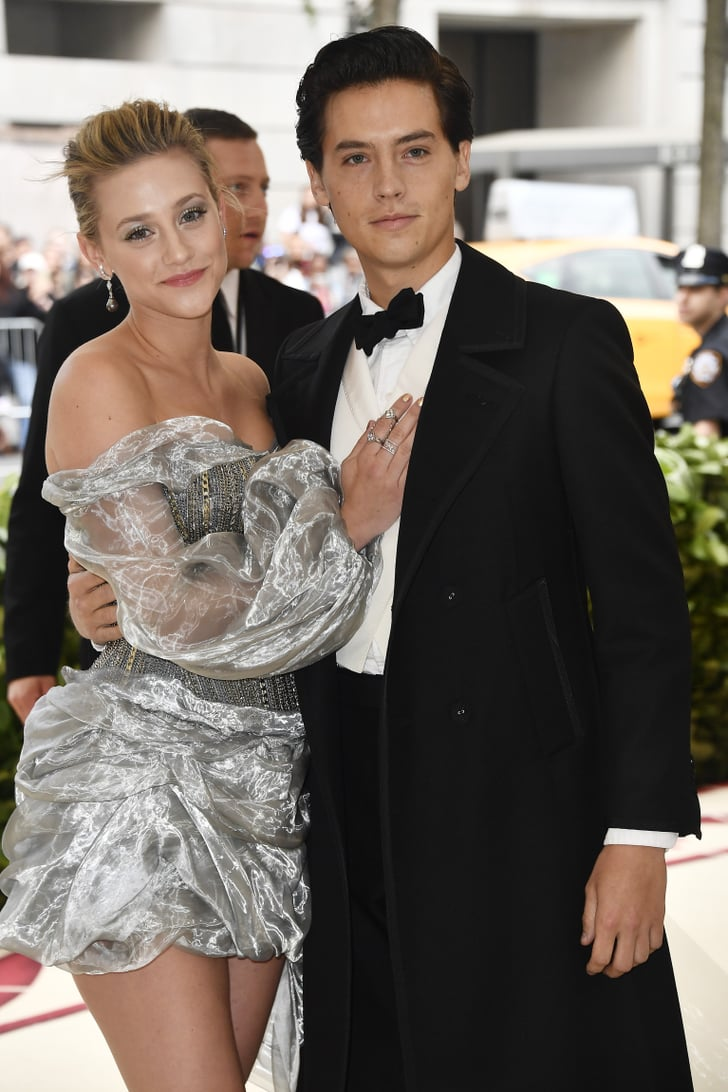 cole sprouse and lili reinhart at 2018 met gala popsugar