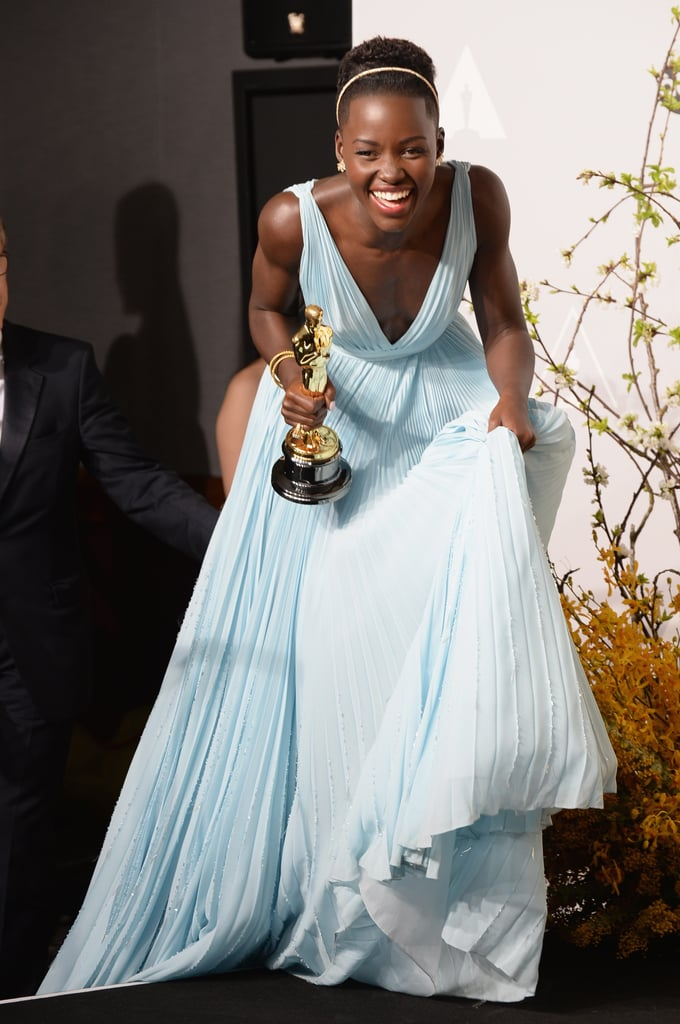 Lupita Nyong'o not only stole the spotlight with her gorgeous Prada gown, but she nabbed the 2014 Oscar for best actress.