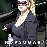 Jessica Simpson Shows Her Bump in Spandex at the Gym