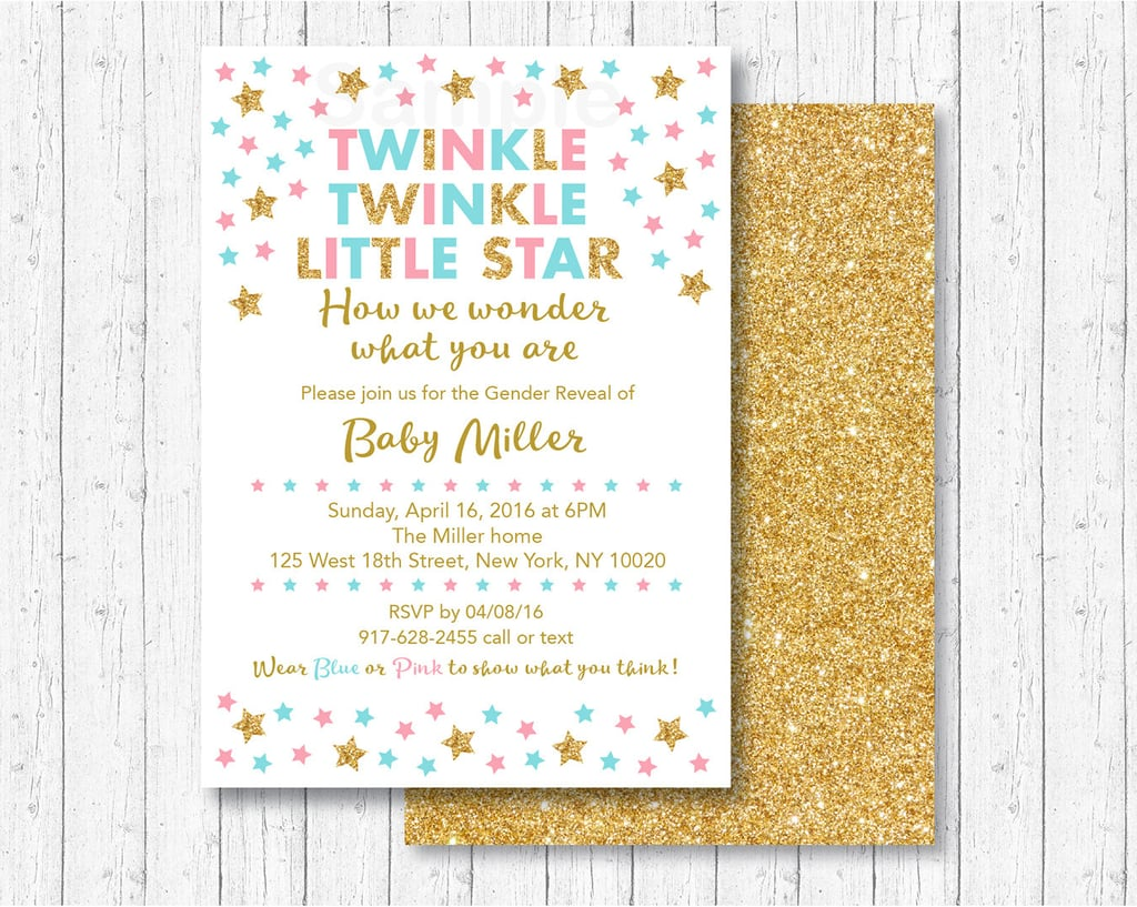 We Are Little Stars: 10 Adorable DIY Gender Reveal Party Invites