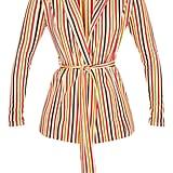 Mustard Stripe Belted Blazer ($45)