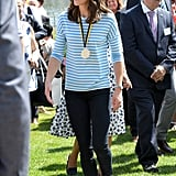Back in July 2017, Kate was already a fan of Superga. She wore a pair of the brand's sneakers when she and William attended a rowing race during their official visit to Germany.