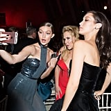Pictured: Gigi Hadid, Amy Schumer, and Bella Hadid