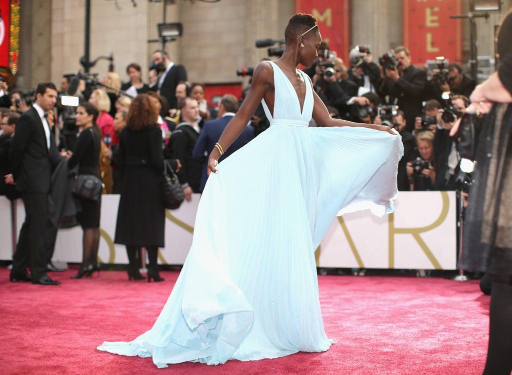 Lupita Nyongo 2014 Oscar Awards Red Carpet