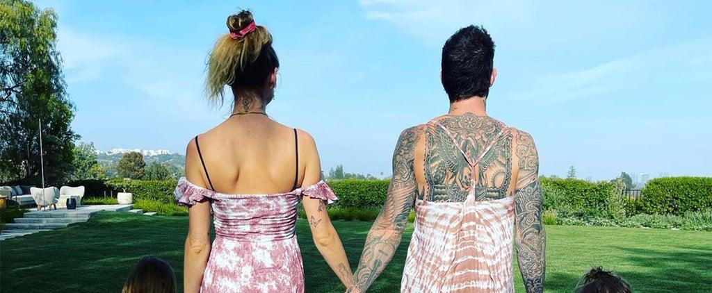 Adam Levine and Behati Prinsloo's Matching Dresses With Kids