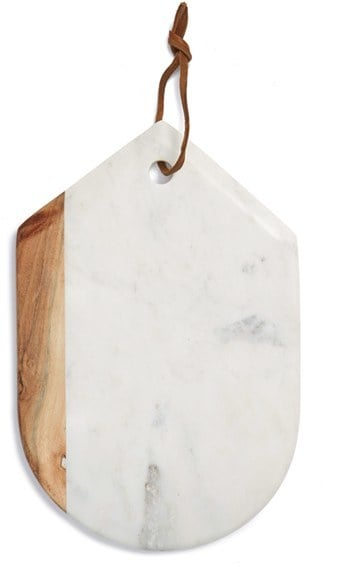 Thirstystone Marble & Wood Oval Serving Board ($38)