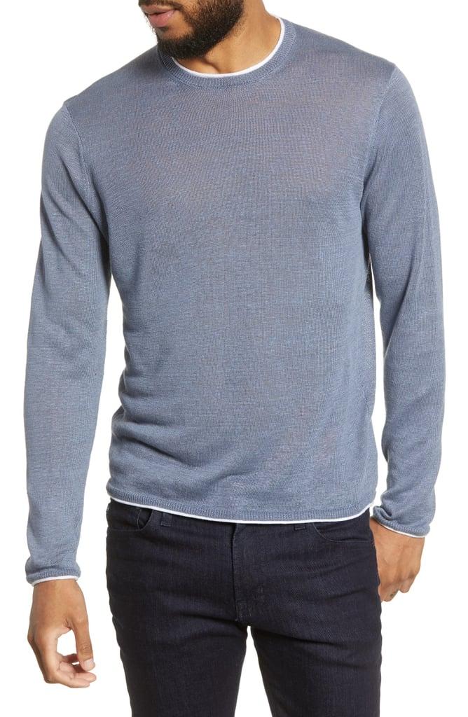 Club Monaco Regular Fit Linen Sweater