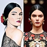 Kendall Jenner in Dolce & Gabbana Spring '15