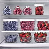 Keep your favorite smoothie and fruit bowl ingredients in easy-to-access piles.