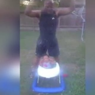 Grandfather Takes Ice Bucket Challenge With 10-Month Old