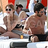 Mischa Barton had a thoughtful moment in a bikini.