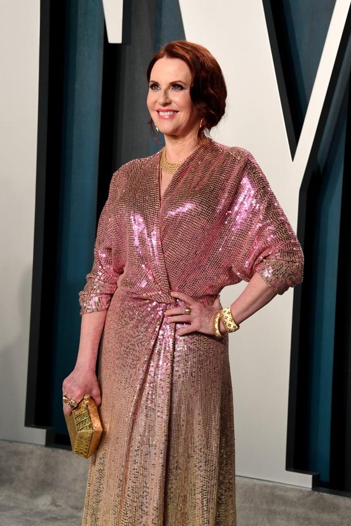 Megan Mullally at the Vanity Fair Oscars Afterparty 2020
