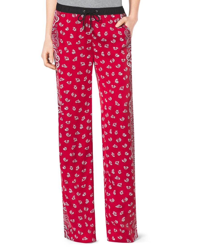 Michael Kors Bandana-Print Wide-Leg Pants ($90)