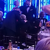 Jennifer Lawrence and Nicholas Hoult at the Golden Globes